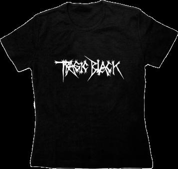 "Tragic Black - T-Shirt ""Logo"" Girlie L"