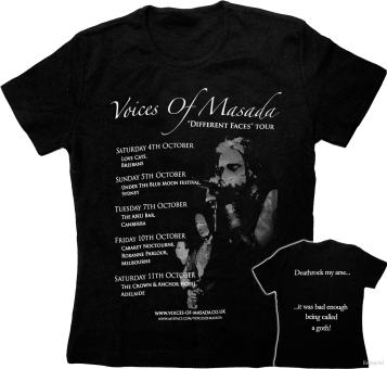 "Voices Of Masada - T-Shirt ""Different Faces Tour"""