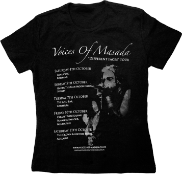 "Voices Of Masada - T-Shirt ""Different Faces Tour"" Girlie L"